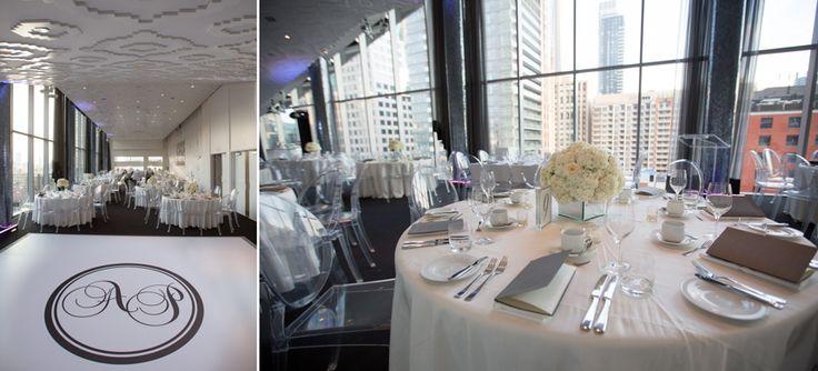 Malaparte Terrace wedding reception decor
