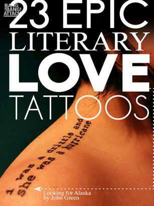 23 Epic Literary Love Tattoos #tattoos