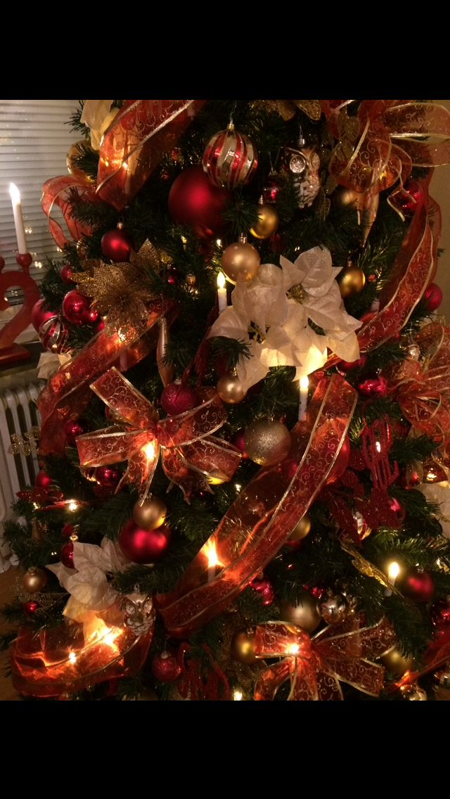 Our Christmas Tree up close. Love the colours!