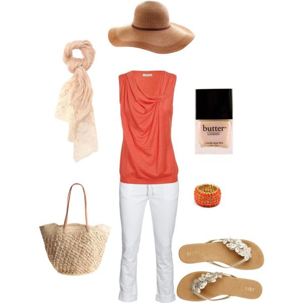 Summer coral, created by genevievejb on Polyvore
