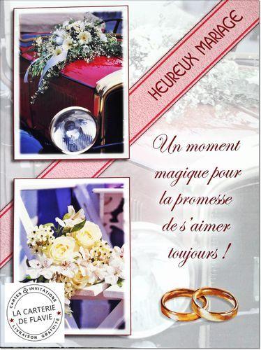 Cartes Félicitations de Mariage  à retrouver sur notre site: http://lacarteriedeflavie.com/Cartes-Mariage-felicitations-anniversaire Livraison gratuite