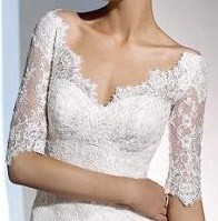 Perfect cut. Off the shoulder. Deep sweetheart. Lace.