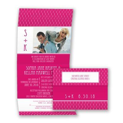 Typography Photo Wedding Invitation - Economical, Contemporary, Fun at Invitations By David's Bridal