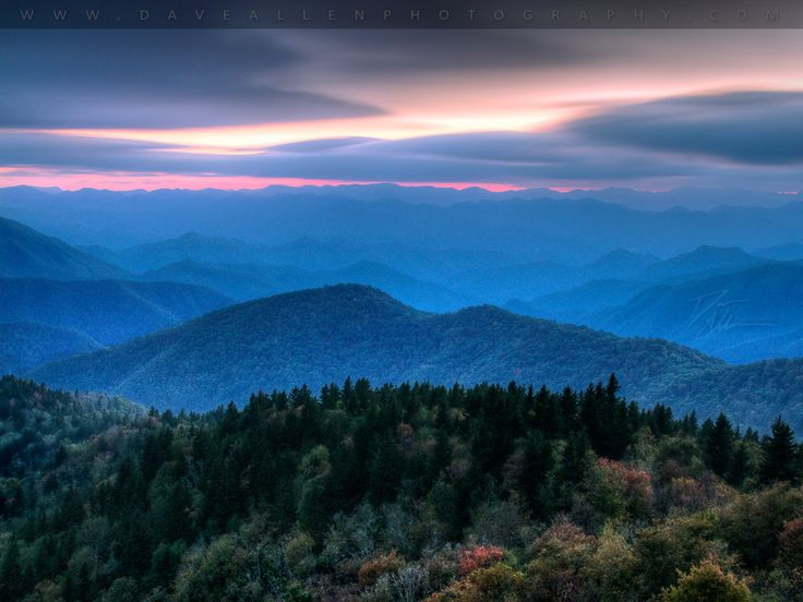Blue Ridge Parkway connecting the Great Smoky Mtns. National Park and the Shenendoah Ntl. Park., forming Blue Ridge Mountains along the Apalachian Trail. I was fortunate to have a view like this for dinner every night on the patio, and during my morning runs while in Asheville, NC. The Blue Ridge Mtns. were featured in Last of the Mohicans, Hunger Games, and the lake scene from Dirty Dancing. The Great Smoky Mountains are also home to the Eastern Band of Cherokee Indians.