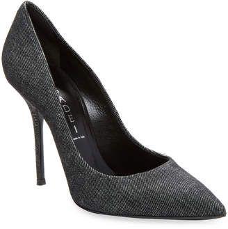 Casadei Women's Denim High-Heel Pumps
