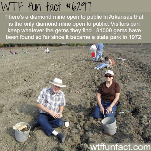 Public diamond mine in Arkansas - WTF fun facts