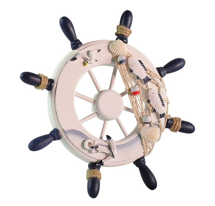 Amazon.com - niceeshop(TM) Ornamental Home Nautical Wall Marine Decor Wood Pirate Ship Helm Wheel, Random Color -