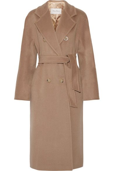 Max Mara - Madame Oversized Wool And Cashmere-blend Coat - Camel - UK16