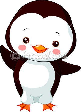 divertido zoológico. pinguim — Ilustração de Stock #8614506