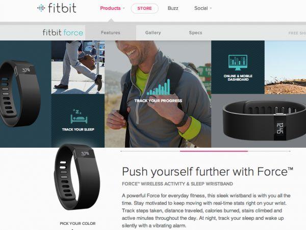 歩数などの運動量や消費カロリー、睡眠時間などを測定・記録するフィットネス用のリストバンド「Fitbit」