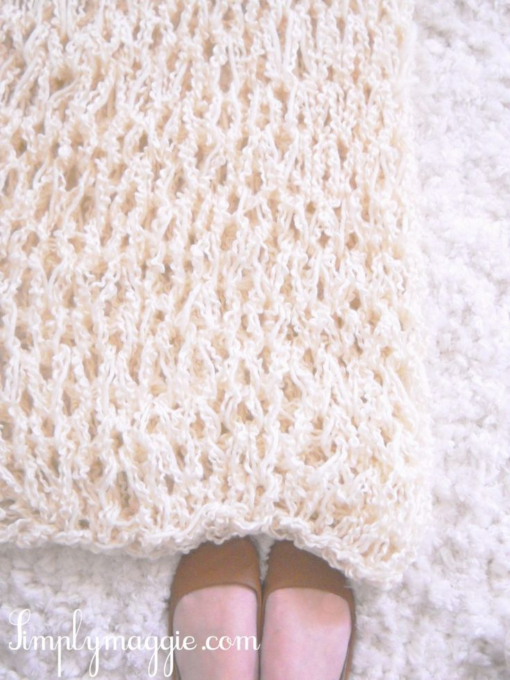 arm knitting blanket instructions