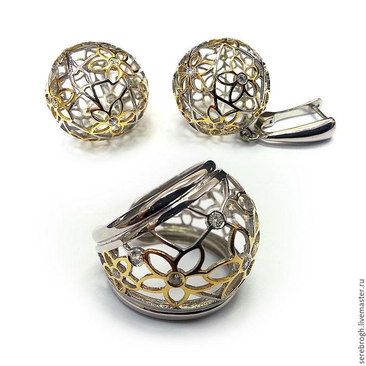 Купить Серебряное кольцо Настроение - серебряный, серебряные украшения, серебряное кольцо, серебряные серьги, серебро