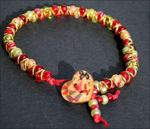 Bright Beaded Bracelet, festival bracelet, stacker bracelet, Goddess bracelet £7.50