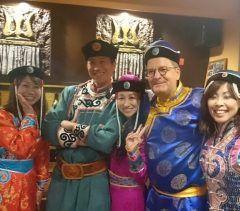 博多駅近くのモンゴル料理オルドス家にてアジアン会 モンゴルの民族衣装も自由に着れます()楽しい tags[福岡県]