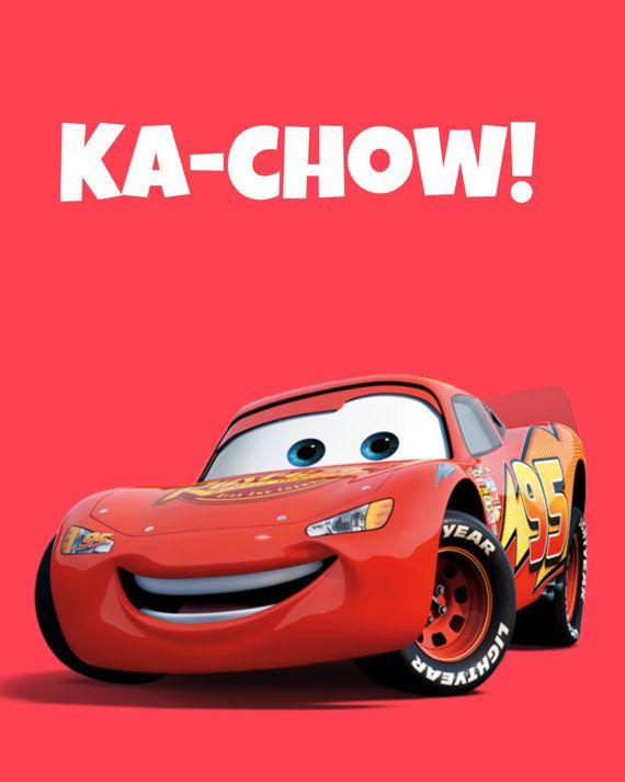Lightening McQueen Ka-Chow Printable 8x10 by RachelsMagicalPrints