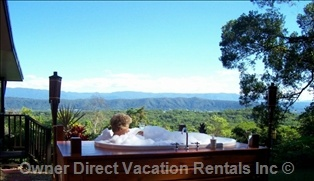 Pamper yourself - you Deserve it! Private outdoor spa with spectacular views in the heart of the world famous Daintree National Park, Australia