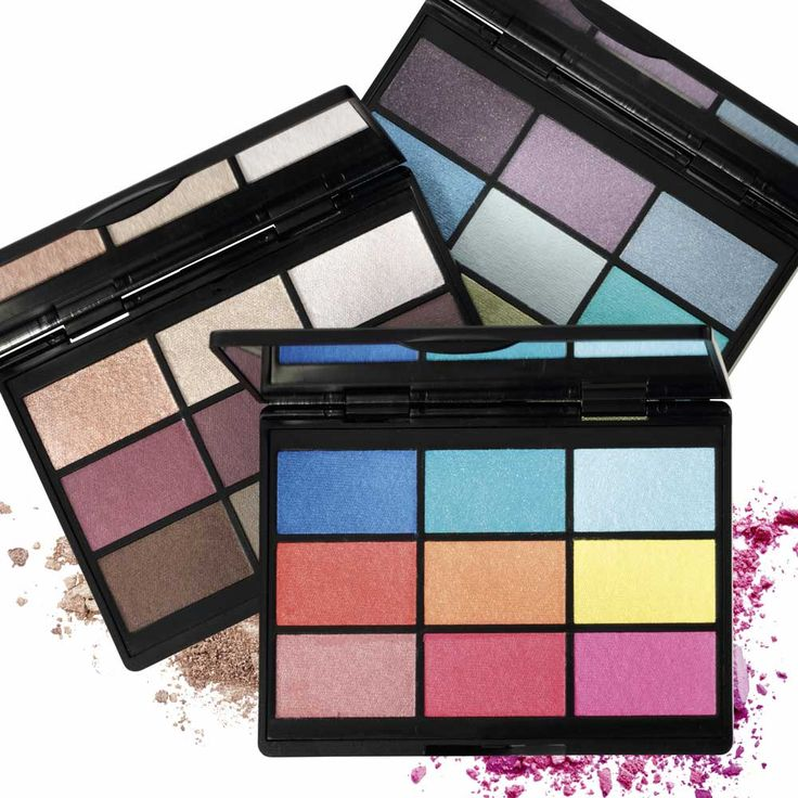 GOSH 9.Shades Eye shadow palettes.  9 Shades is 3 eye shadow palettes each featuring nine shades of stunning colours to create endless cool looks inspired by the bright lights of big cities.