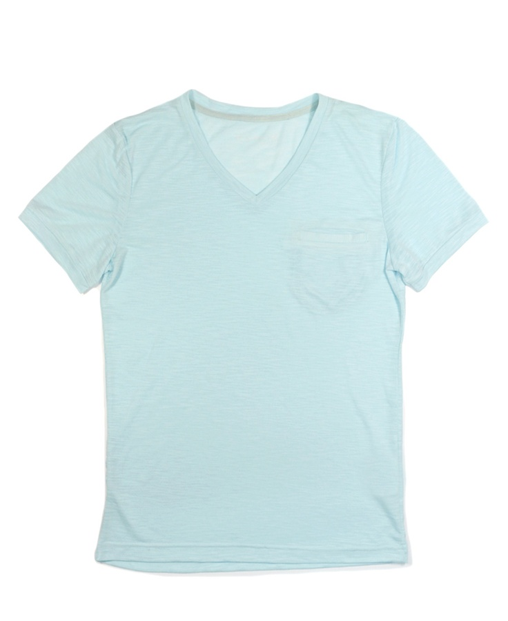 Cotton Pocket V-neck T-shirt
