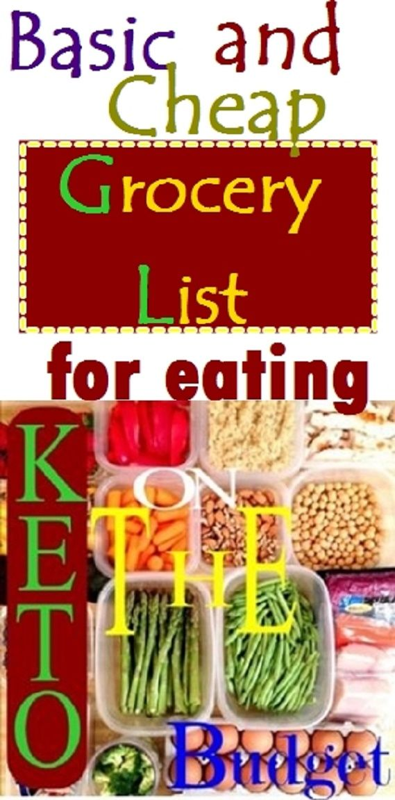 Grocery List for Eating Keto on a Budget