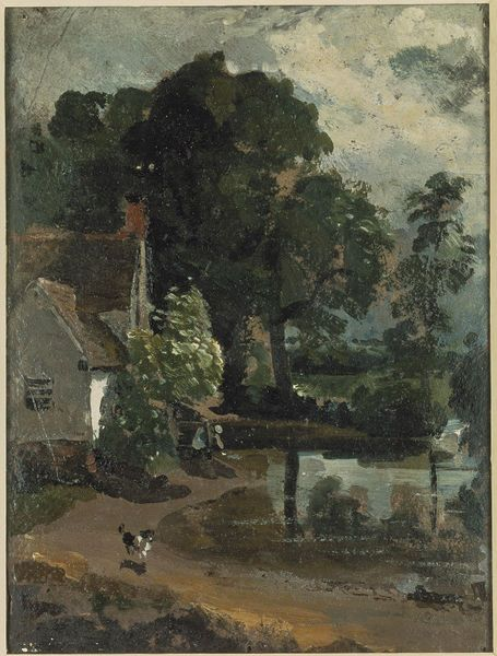 Willy Lott's House, near Flatford Mill, John Constable, about 1810. Visit the real Flatford Mill http://www.nationaltrust.org.uk/flatford-bridge-cottage/