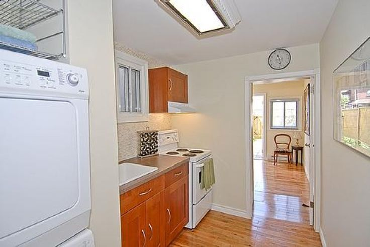 kitchen in the tiniest house in Toronto