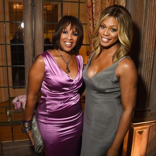 Gayle King and Laverne Cox
