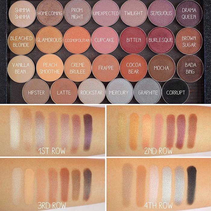 Make Up Geek eyeshadow swatches                                                                                                                                                                                 Mehr