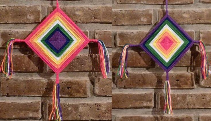 Mandalas Huichol con los colores de la bandera Wiphala