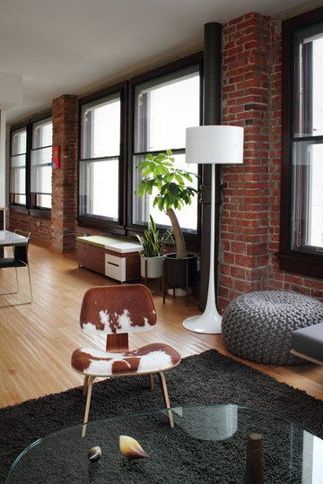 another open, exposed brick, dream space