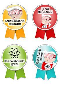 Con estas medallas podréis demostrarle a vuestro hijo las cosas que ha hecho bien antes, durante y después de la visita al pediatra. http://edukame.com/node/16701