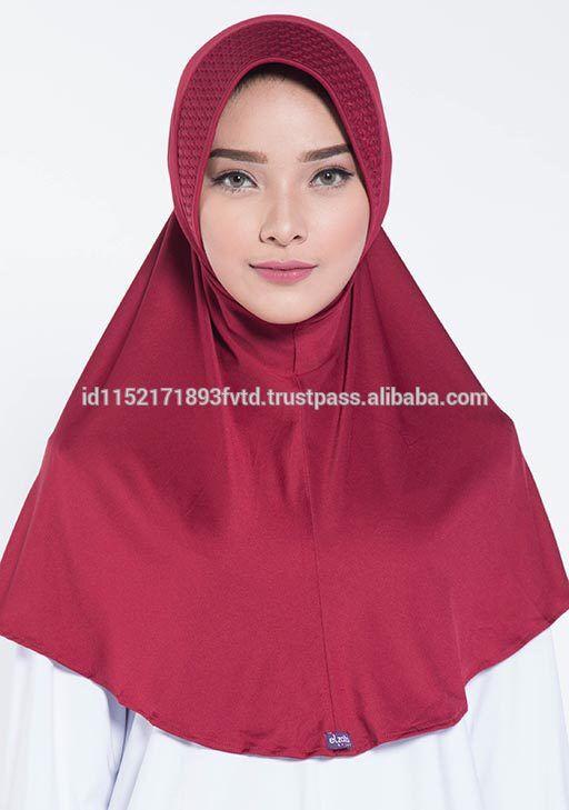 Hot Sell Instant Hijab Elzatta Zaria M Almeria Maroon Hijab For The world