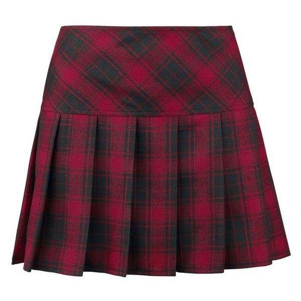 Plaid Pleated Skirt ❤ liked on Polyvore featuring skirts, purple skirt, tartan pleated skirt, purple plaid skirt, knee high skirts and tartan skirts