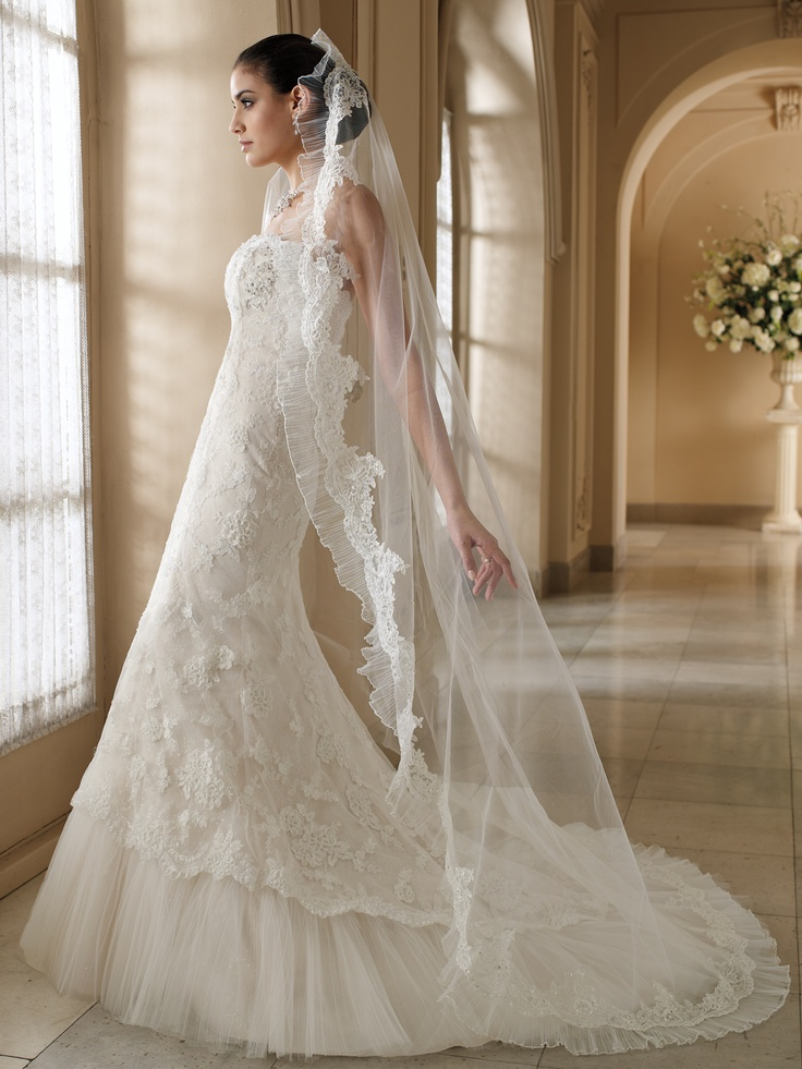 17 best images about beautiful wedding dresses on for Wedding dress with veil