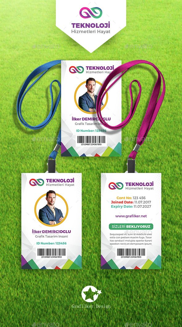 Corporate ID Card Templates - Cards & Invites Print Templates