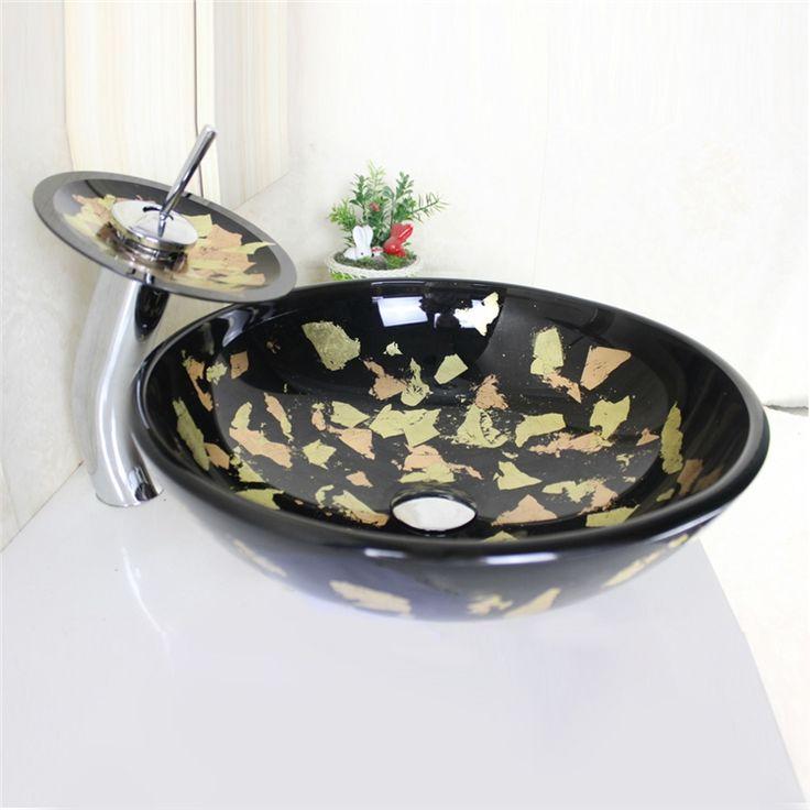 彩色上絵洗面ボウル&蛇口セット 洗面台 洗面器 手洗器 手洗い鉢 排水金具付 円形 SFS672