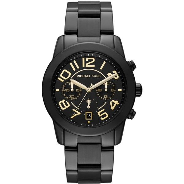 Michael Kors Watch, Women's Chronograph Mercer Black-Tone Stainless Steel Bracelet 41mm MK5858 - A Macy's Exclusive $275