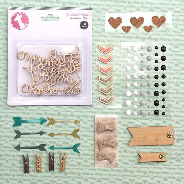 October Embellishment Kit - Clover , Scrappy Canary
