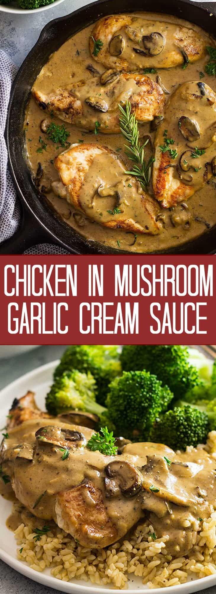 Chicken in Garlic Mushroom Cream Sauce   Countryside Cravings