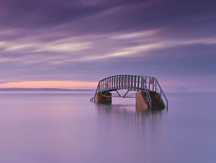 Bridge to Nowhere,A long exposure shot of the bridge at Belhaven Bay in Dunbar.