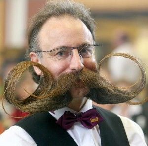 The First Annual World Beard and Mustache Championship was held in  1990