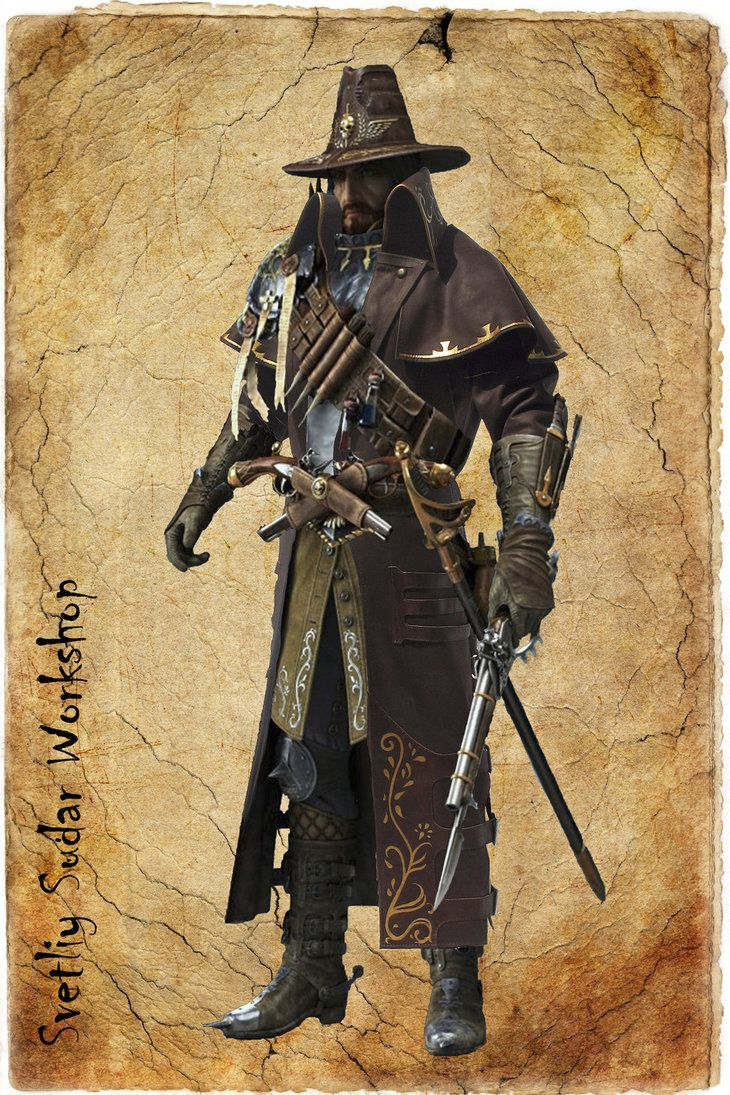 """Longcoat of the witch hunter of the game """"Warhammer Online"""