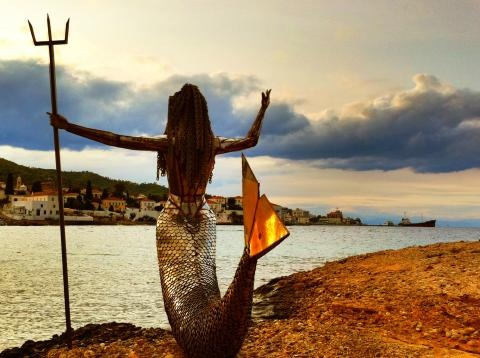 Palio Limani Mermaid  Just one of the fabulous statues on the Greek island of Spetses...