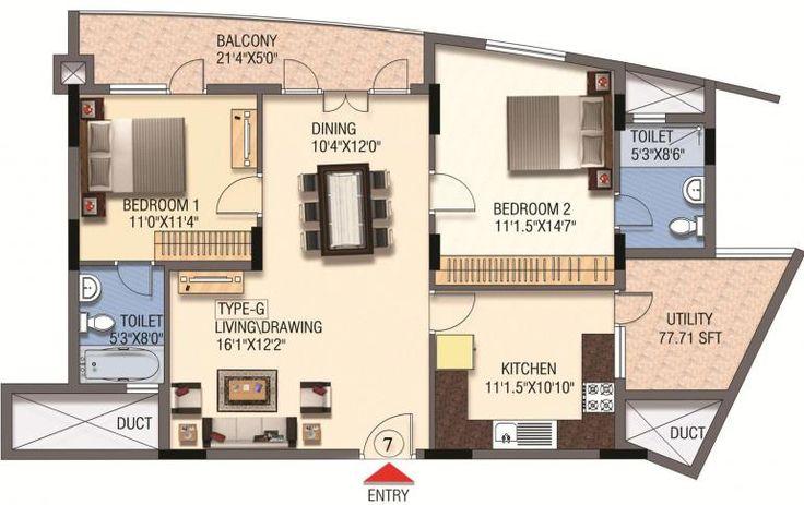 Mantri Global Heights floor plan