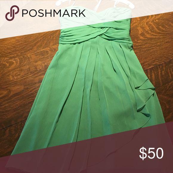 Clover Green Bridesmaid Dress Strapless clover green bridesmaid dress. Not altered. David's Bridal Dresses Wedding