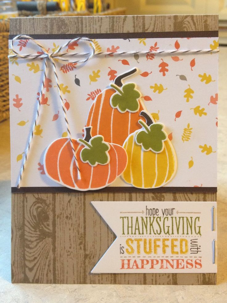 Catherine Loves Stamps Thanksgiving CraftsHandmade Thanksgiving CardsFall
