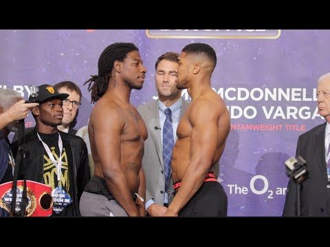CHARLES MARTIN v ANTHONY JOSHUA - OFFICIAL WEIGH IN & HEAD TO HEAD - Boxen1.com - aktuelle Boxsport News