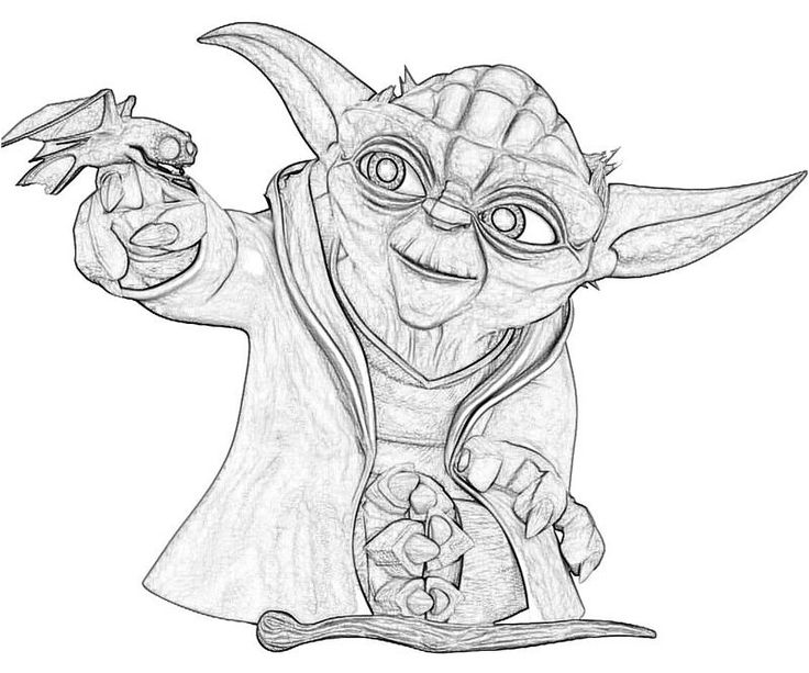 yoda head coloring pages - photo#7