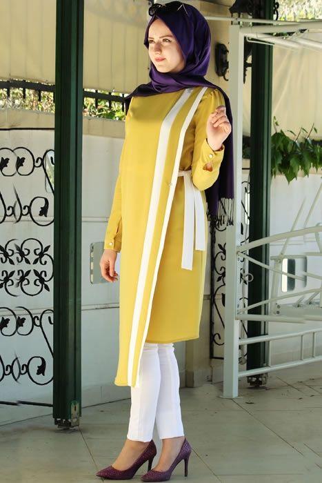 Nur Banu Limon Sarısı Hayel Tunik