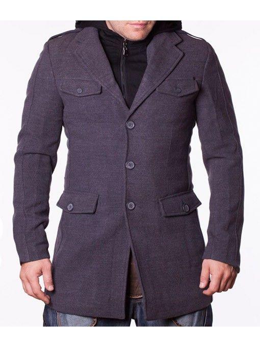 Palton barbati Philip gri