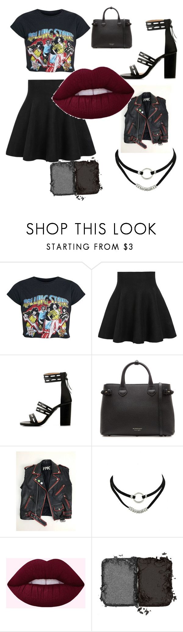 """""""Punk Chic"""" by wilbells ❤ liked on Polyvore featuring WithChic, Burberry and NARS Cosmetics"""